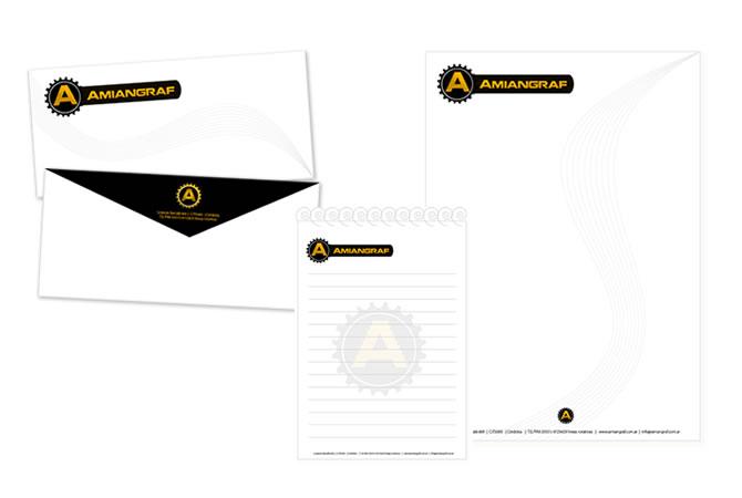 Diseño de papelería institucional.