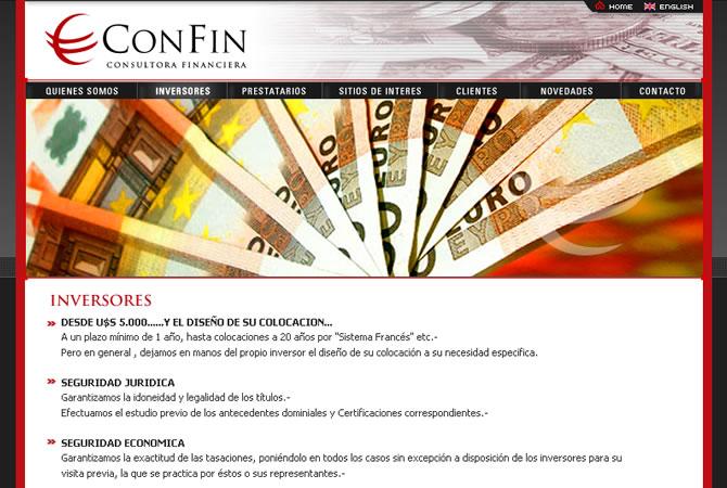 Diseño de sitio web para Consultora Financiera.