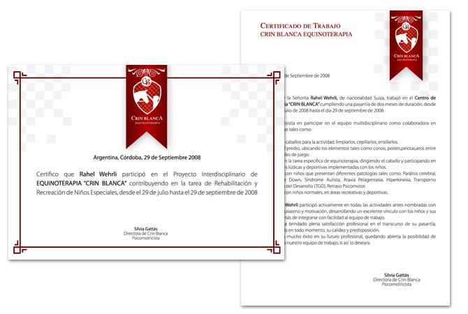 Aplicación de la identidad en certificados y diplomas.