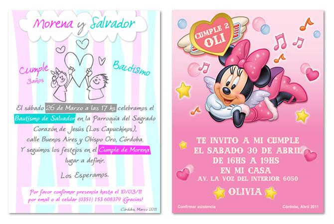 Diseño de tarjeta para cumple de niños.