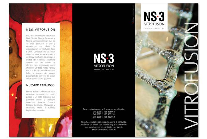 Diseño de folleto promocional, exterior.