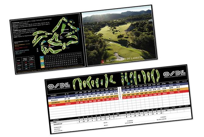 Diseño de tarjetas para marcar el juego.