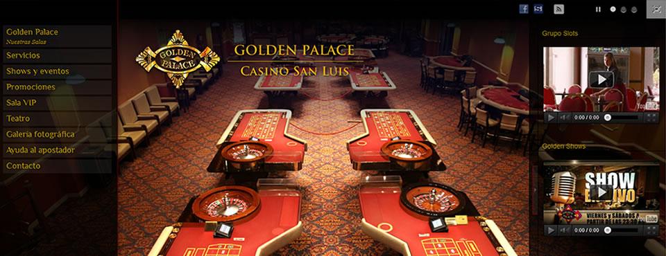 Diseño de siete sitios para Casinos Golden Palace.