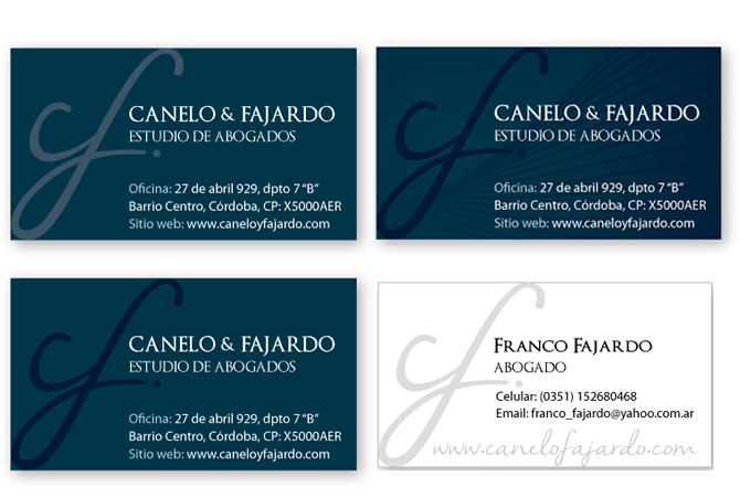 Diseño de tarjetas personales.