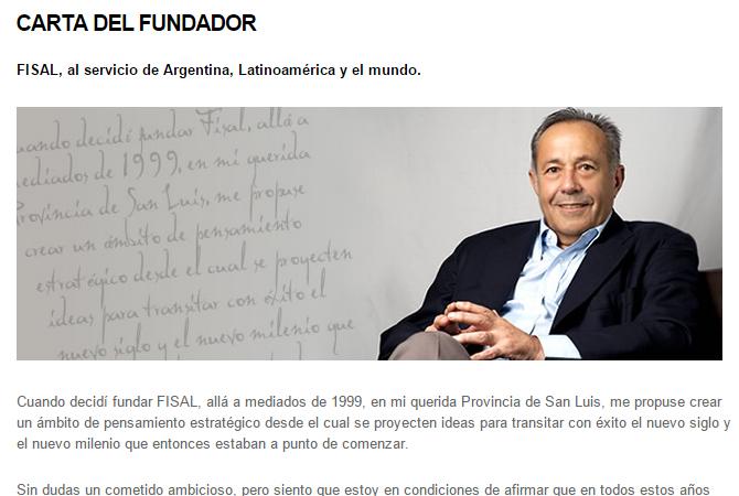 Sección de Carta del Fundador.